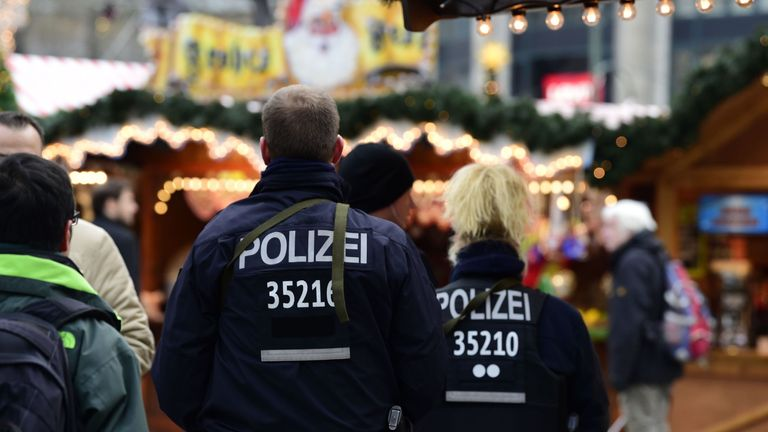 The Christmas market in Berlin reopened on Thursday under heavy security