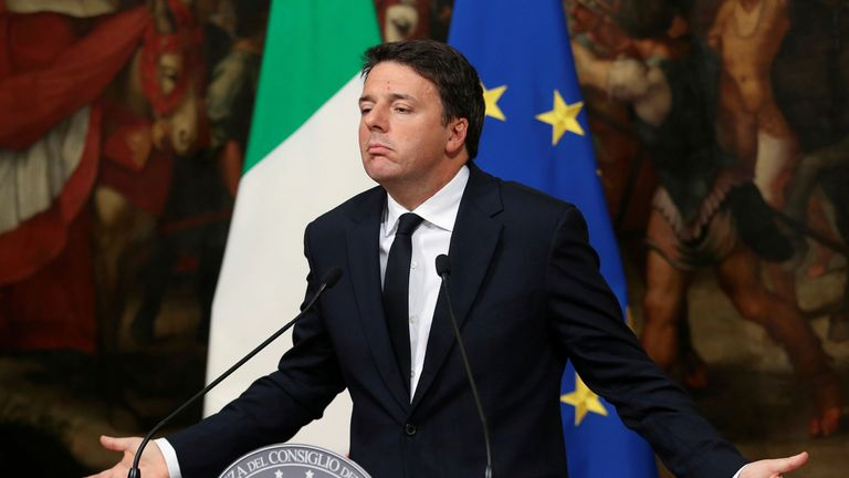 Matteo Renzi announced he will resign at a press conference