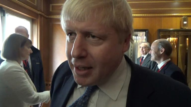 Boris Johnson responds to claims he privately endorses freedom of movement