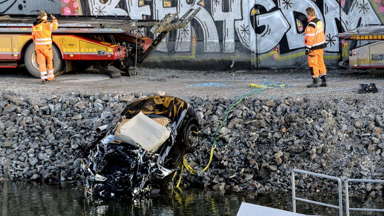 The impact caused 'substantial deformation' of the vehicle
