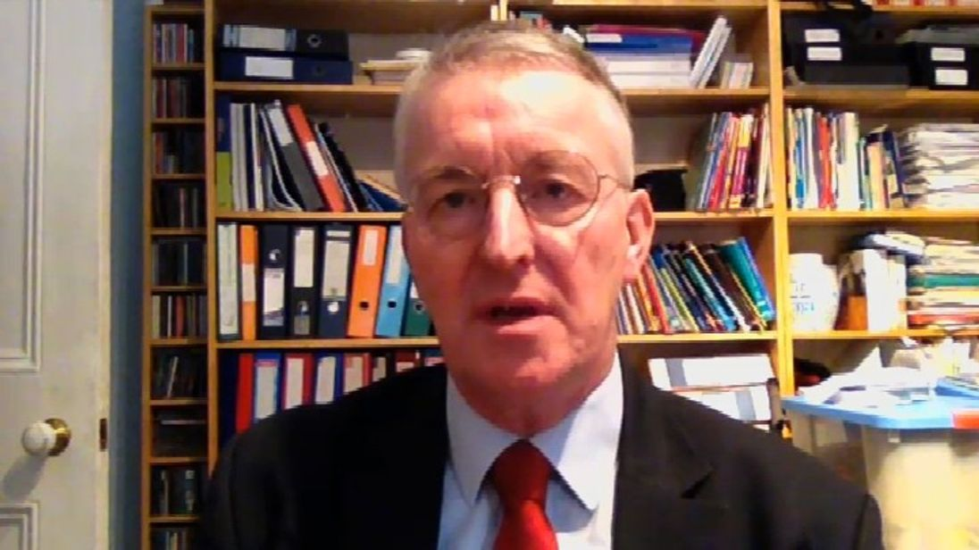Hilary Benn screen grab