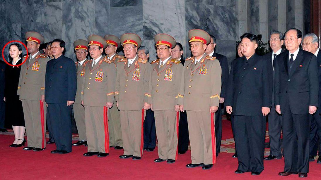 Kim Yo Jong (L), pictured in 2014