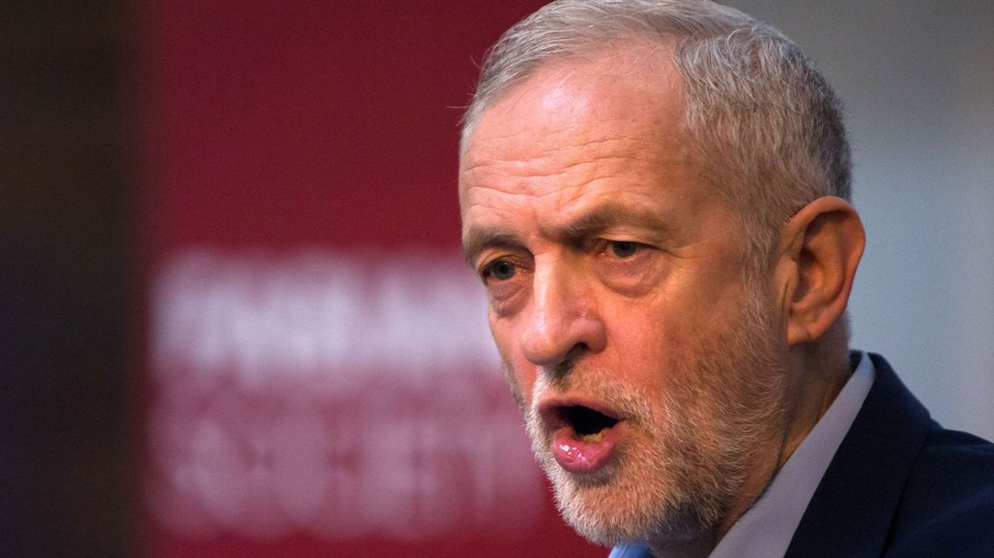 Labour leader Jeremy Corbyn speaks at the Fabian Society conference in central London
