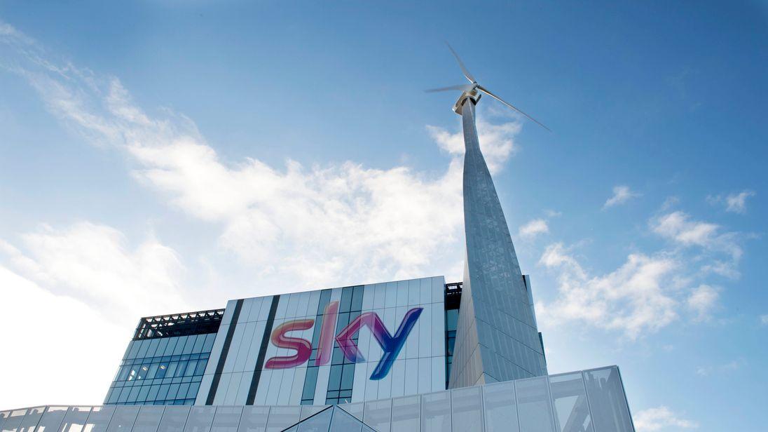 Sky logo on studios
