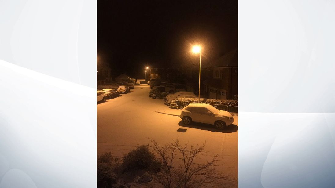 Snow in Cheshire, photo from Sean Hickey