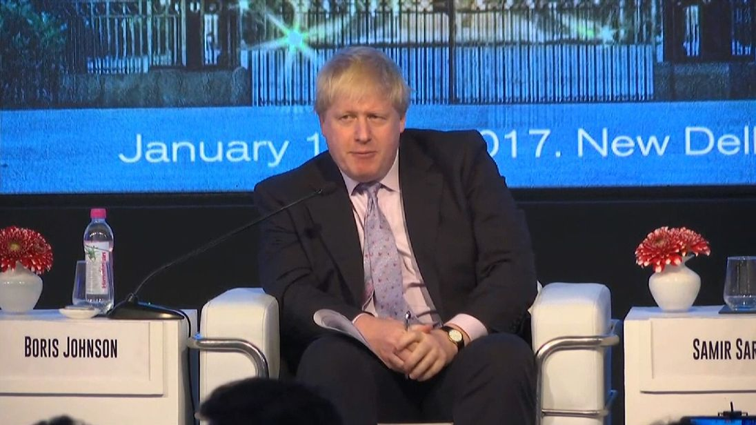 Mr Johnson says the EU would be foolish to 'punish' the UK