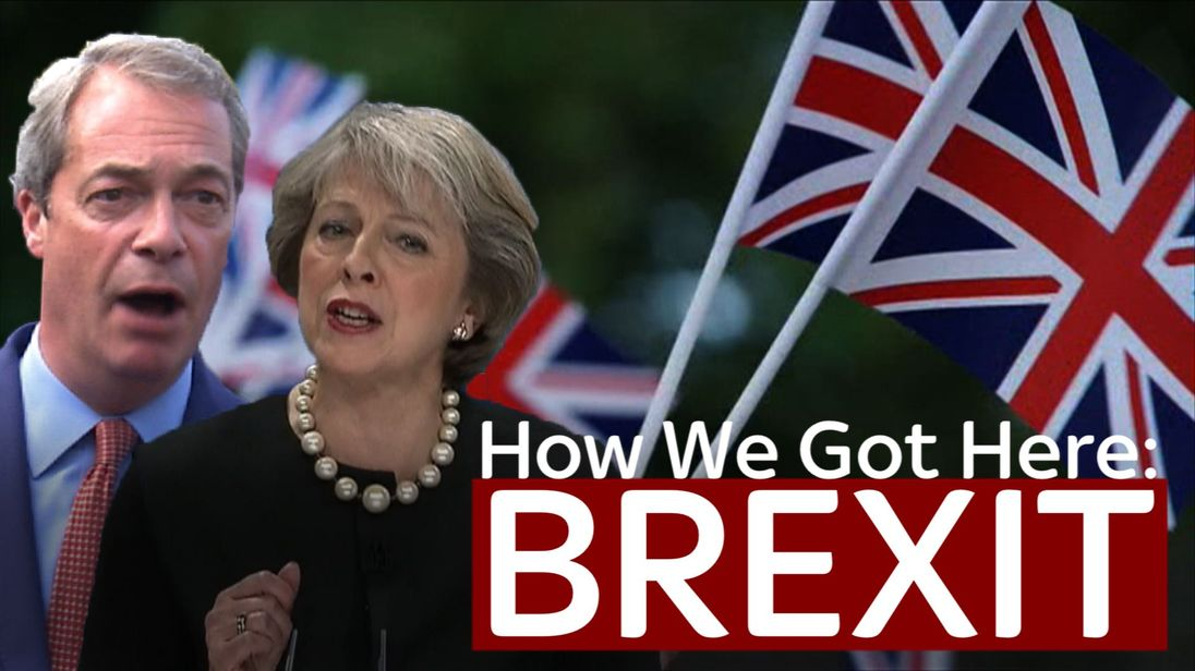 Theresa May and Nigel Farage both making speeches about Brexit
