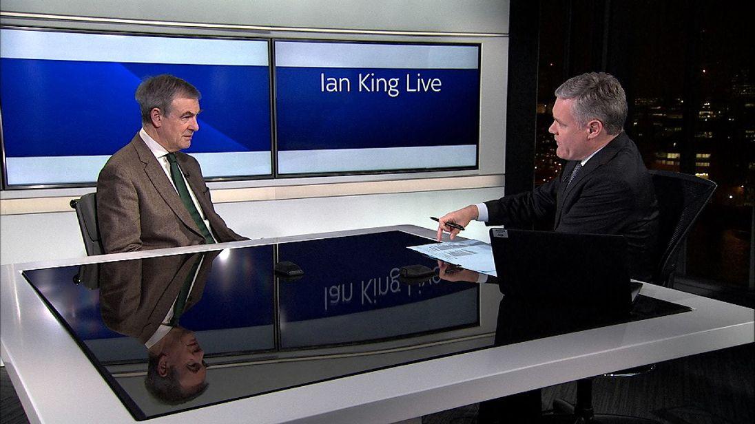 Sir John Gieve with Ian King