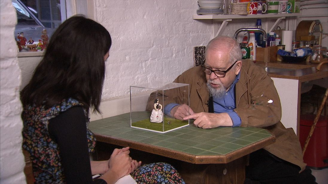 Peter Blake shows his work as part of an art project aiming to raise money for Parkinson's research