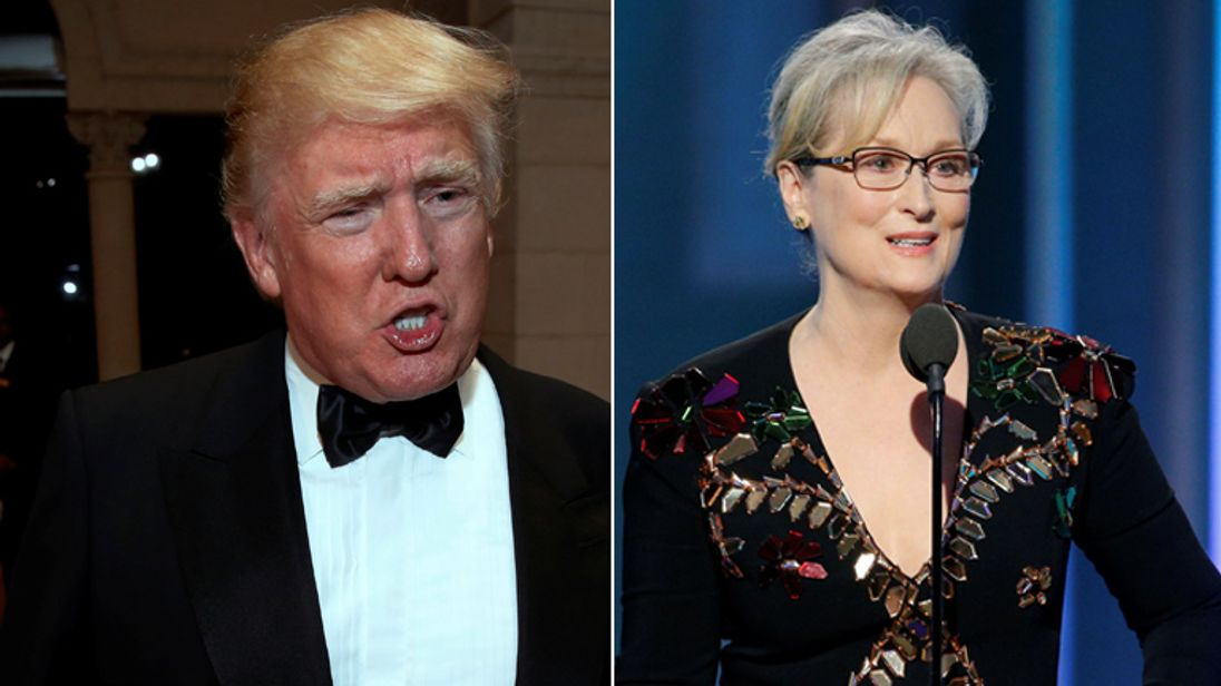 Donald Trump shared his response to Streep's Golden Globes speech on Twitter