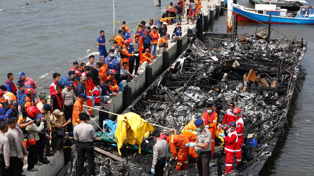 Fire ripped through the vessel killing at least 23 people