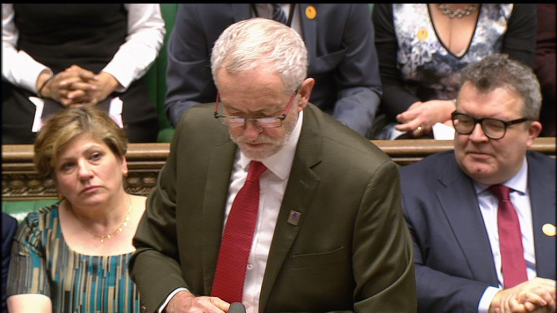 Jeremy Corbyn appeared wrong-footed over a Brexit white paper