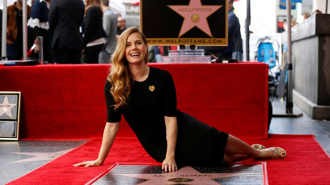 Actress Amy Adams get a star on the Hollywood Walk of Fame
