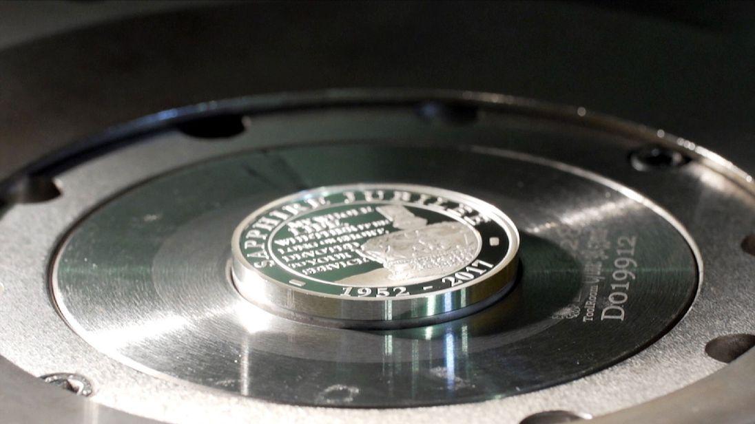 Sapphire Jubilee commemorative coins