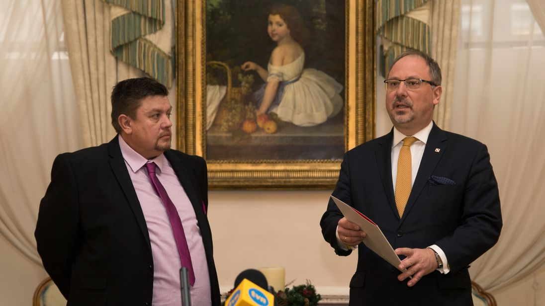 David Duncan is thanked by the Polish Ambassador to the UK.
