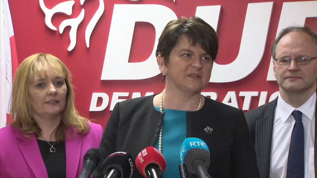 Northern Ireland's outgoing first minister Arlene Foster