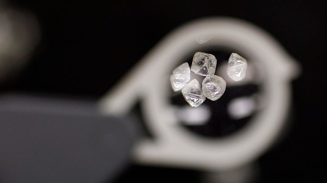 Uncut diamonds worth tens of millions of pounds were taken in the raid. File pic