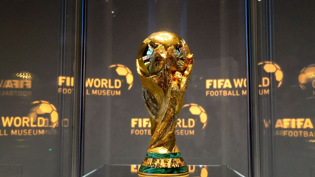The World Cup trophy is seen in the FIFA World Football Museum during its inauguration on February 28, 2016 in Zurich.