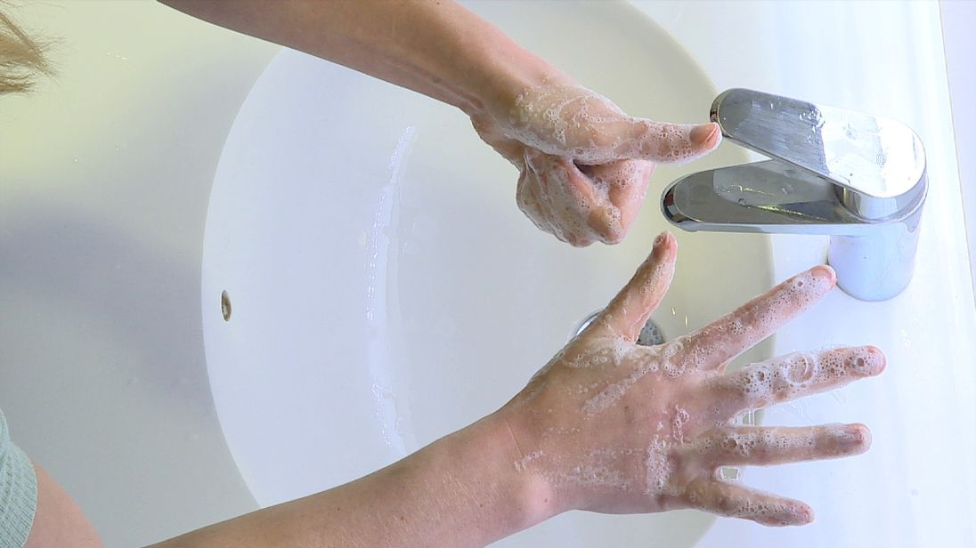 Six steps to clean hands and reducing the risk of spreading disease