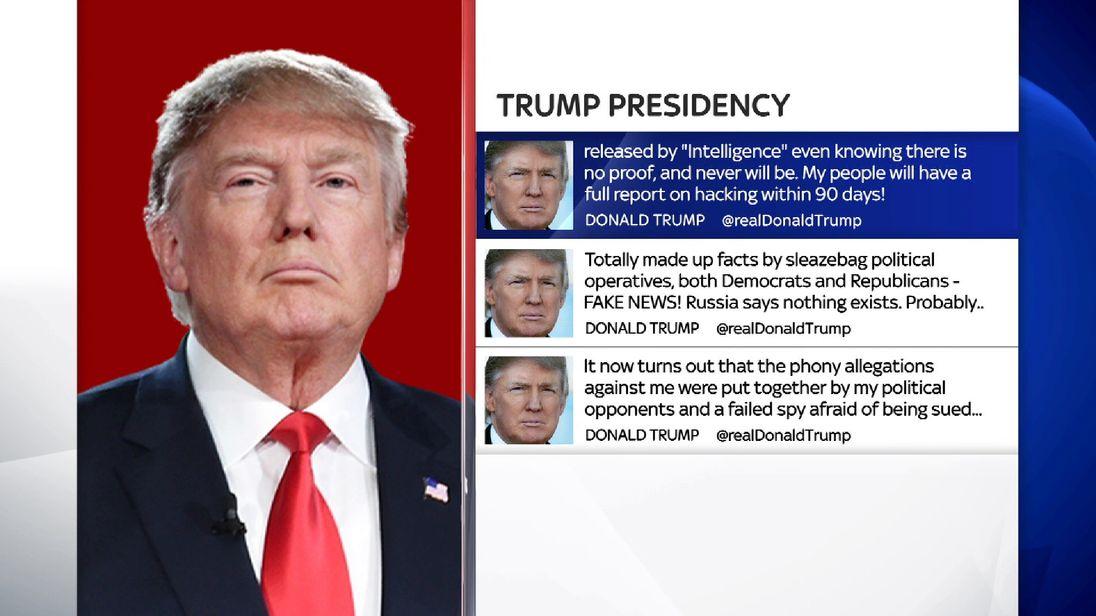 Trump tweets on dossier