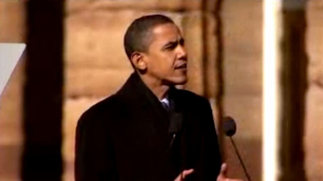 Barack Obama campaigning in Springfield, Illinois in 2007