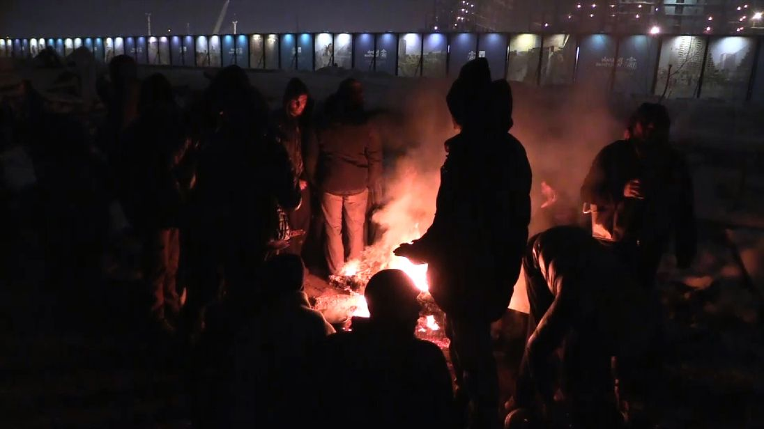 Freezing weather in Serbia is forcing refugees into unsanctioned shelters