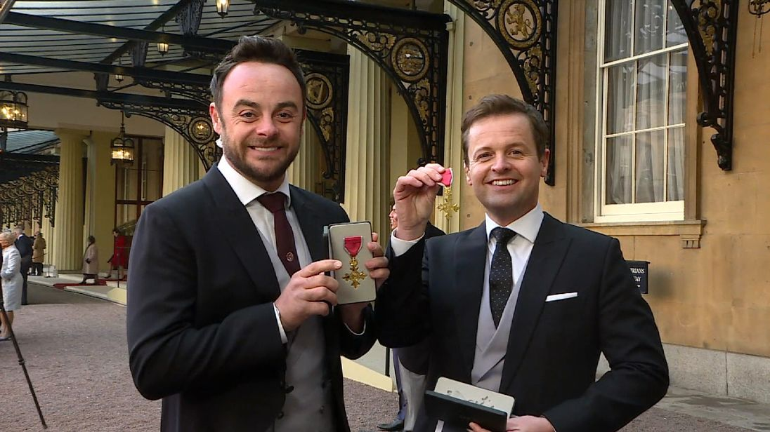 Ant and Dec with their awards