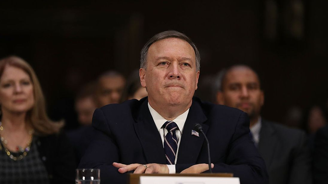Mike Pompeo at his Senate confirmation hearing