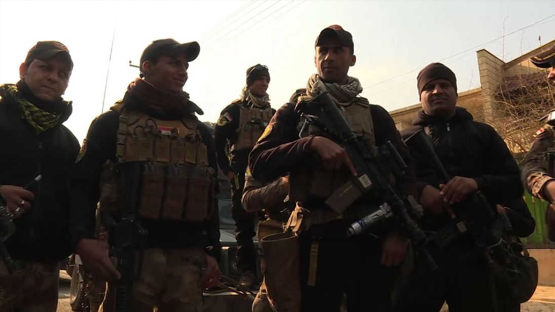 Iraqi soldiers in Mosul speak to Sky News