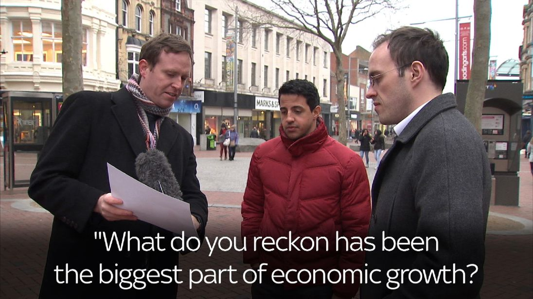 Screengrab from captioned video on domestic growth