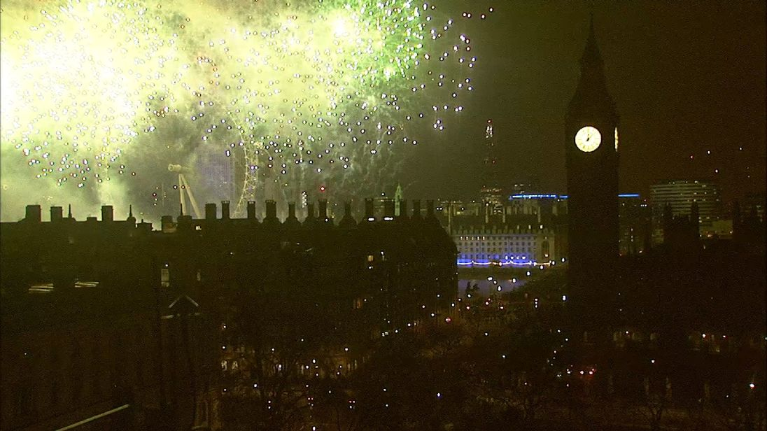 The fireworks lit up London's skyline