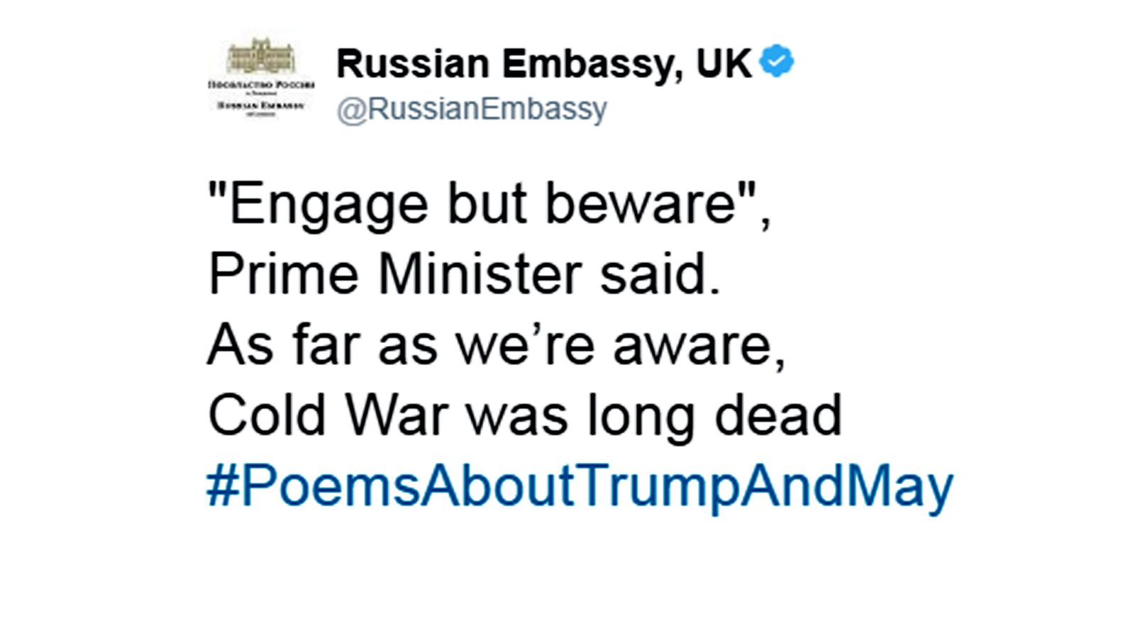 Diplomats slam pms russia warning to trump in verse hexwebz Images