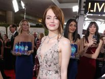 Actress Emma Stone at the 74th annual Golden Globe Awards sponsored by FIJI Water at The Beverly Hilton Hotel on January 8, 2017 in Beverly Hills, California