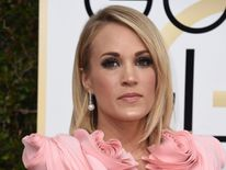 Carrie Underwood arrives at the 74th annual Golden Globe Awards, January 8, 2017, at the Beverly Hilton Hotel in Beverly Hills, California