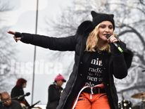 Madonna performs at protests in Washington
