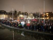 Crowds filled the centre of Bristol to demonstrate against the ban