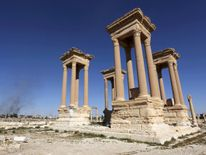 The Roman Tetrapylon has also been blown up, according to reports