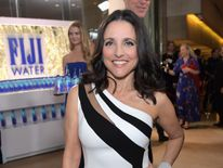 Actress Julia Louis-Dreyfus at the 74th annual Golden Globe Awards sponsored by FIJI Water at The Beverly Hilton Hotel on January 8, 2017 in Beverly Hills, California