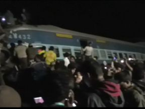 The derailment is thought to have been caused by a technical fault