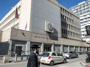 The US embassy in Israel, currently in Tel Aviv