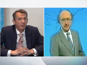 Andy Haldane (L) and Michael Fish. Pic: REX/Shutterstock