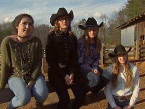 Trump supporters from  the Cowboy Church of Jerusalem in Georgia