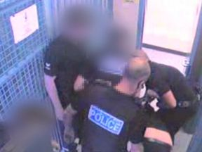CCTV footage from Heavitree Police Station