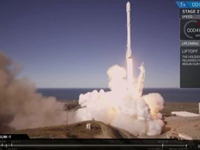 The rocket launches successfully