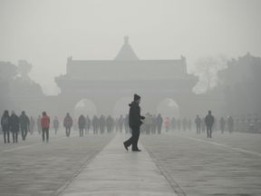 Many people have been forced to stay indoors because of the smog