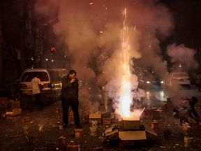 Chinese people celebrate Lunar New Year