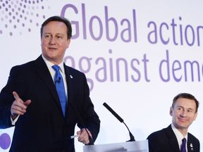 David Cameron at the dementia summit in 2013