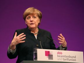 Chancellor Merkel made the remarks to civil servants in Cologne