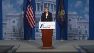 Theresa May addresses Republicans in Philadelphia