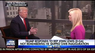 Donald Trump interviewed on the Fox & Friends current affairs show